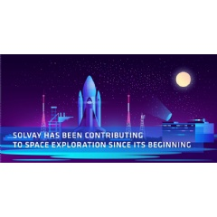 Solvay materials have been traveling to outer space for 50