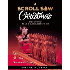 """Frank Pozsgai Invites Readers and Hobbyists to His Intricate Wood-crafting Artistry and Know-How in His Do-It-Yourself Guide """"A Scroll Saw Christmas: Step-by-Step to a 3D Sleigh and Reindeer"""" thumbnail"""