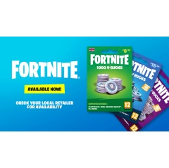 Fortnite V-Bucks Cards Coming to Retailers Soon